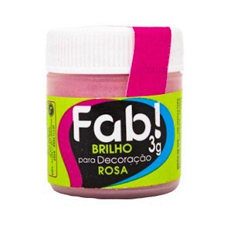 Corante Brilho Para Decoracao Fab 3g Rosa