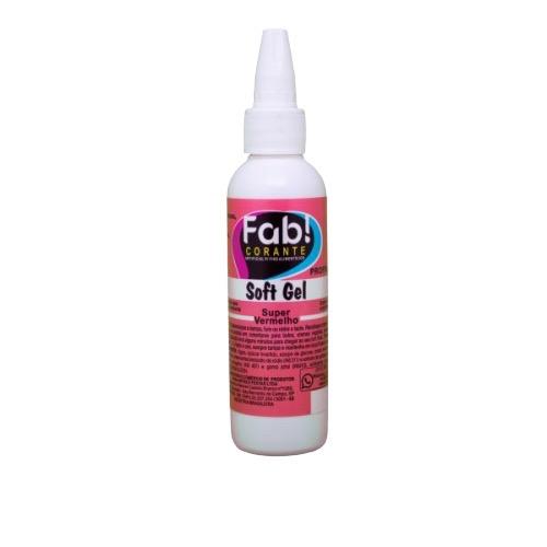Corante Softgel Fab 60g Super Vermelho
