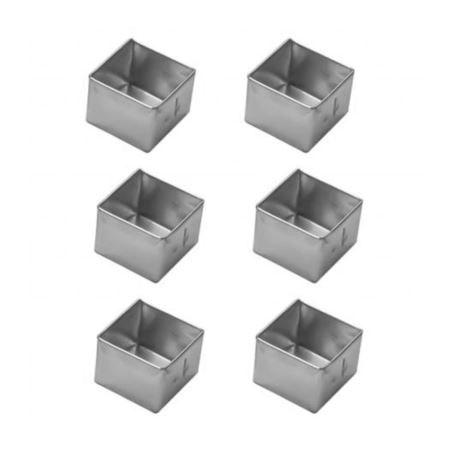 Forminha Pao Mel Quadrada Pq (Alum) 2,4x3cm