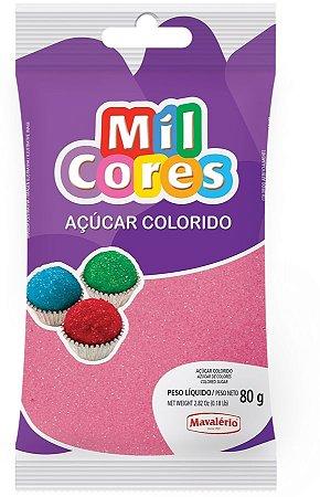 Acucar Colorido 80g Rosa Mil Cores