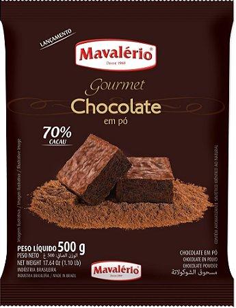 Chocolate Em Po 70% Cacau 500g Mavalerio