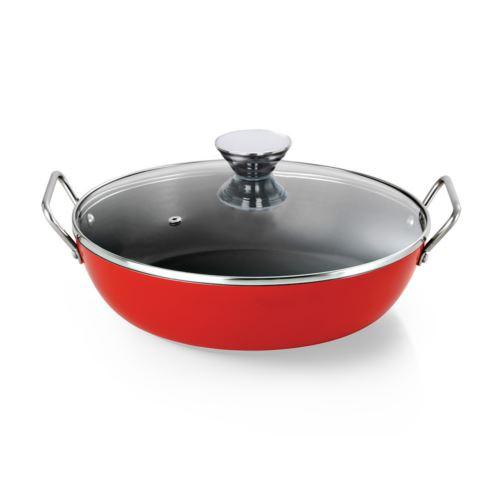Frigideira Gourmet Com  Alca Vermelho 28cm Ant(D) 3,6