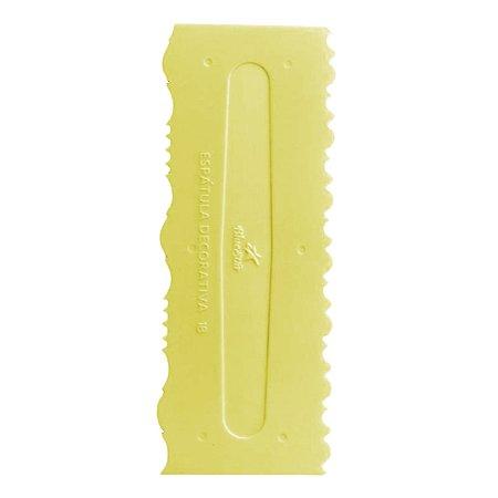 Espatula Decorativa (Plas) 18 Amarela Com 1un