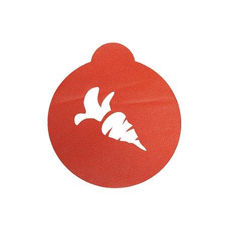 Stencil Cupcake Cenoura Ref 0737 1un