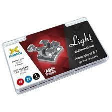 """Kit de Bráquetes 01 caso Prescrição M.B.T. Light HP Bidimensional .018"""" / .022"""" Gancho Gan."""