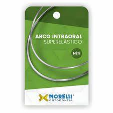 "Arco Intraoral Superelástico Grande NiTi Retangular 0,48x0,63mm (.019""x.025"")"