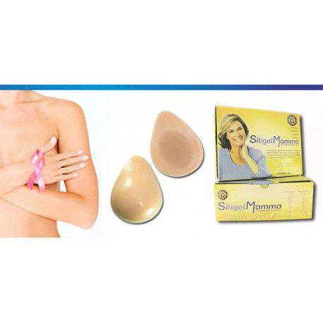 Prótese mamária externa para pós mastectomia - modelo gota - bege