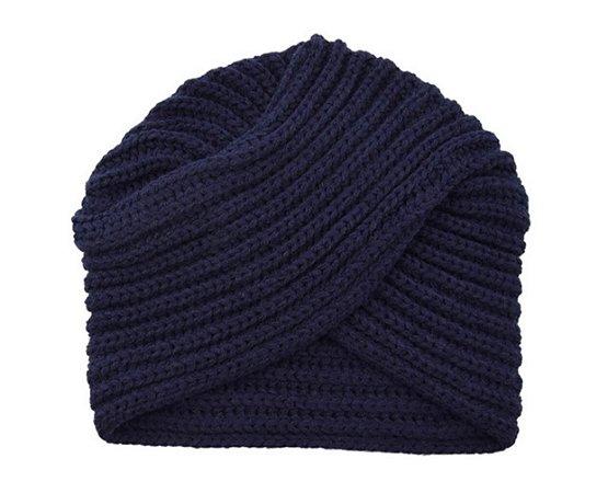 Gorro de tricô - azul marinho escuro