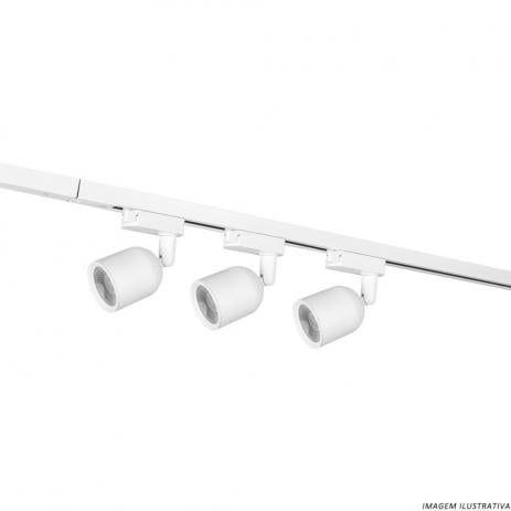 Kit Trilho Eletrificado 1 Metro Com 3 Spots 7W Branco - OPUS