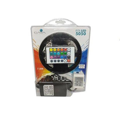 FITA LED 5050 - 7.8W - KIT RGB - GAYA