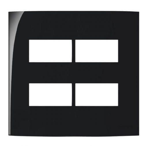 PLACA 4X4 4 POSTOS HORIZONTAL SEPARADOS EBONY - SLEEK - MARGIRIUS