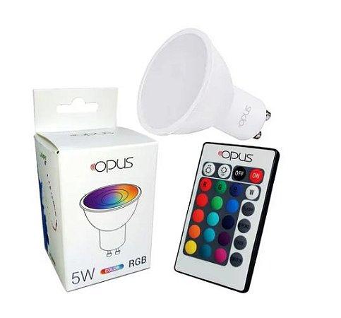 LÂMPADA MR16 5W RGB BIVOLT GU10 - OPUS