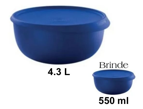 TIGELA TOQUE MÁGICO 4.3L AZUL - BRINDE 550 ML AZUL - TUPPERWARE