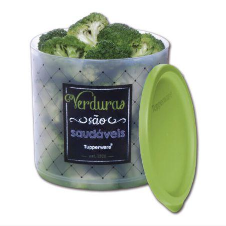 Refri Line Redondo Verduras Bistrô 1,1L - Tupperware