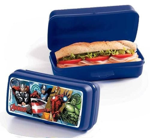 Porta Sanduíche Retangular Vingadores - Tupperware