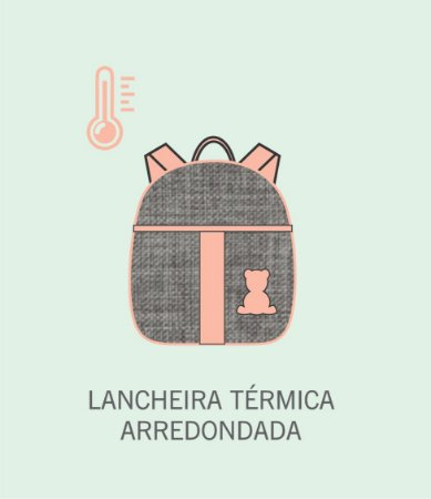 Mochila Lancheira Térmica Arredondada