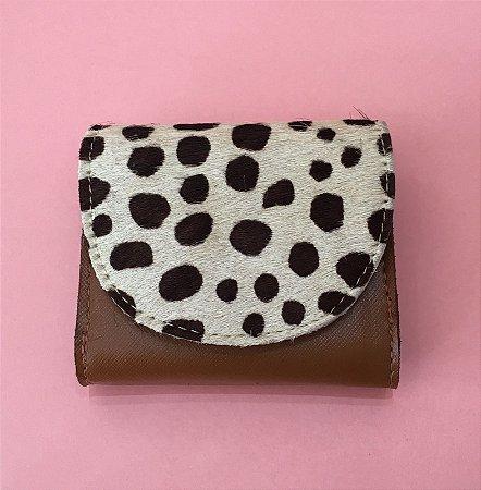 Carteira Isadora Mini - Caramelo couro