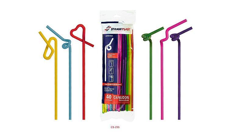 Canudo Flexível 6 Mm Artístico Strawplast Pct 40