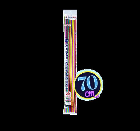 Canudo Flexível 6 Mm Super Longo 70 Cm Strawplast Pct 20