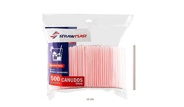 Canudo Drink 6 Mm Vermelho Strawplast Pct 500