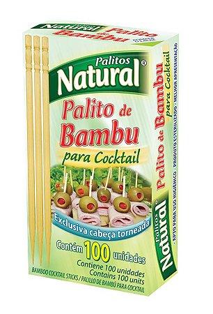 Palito De Bambu Para Cocktail Natural Cx 100