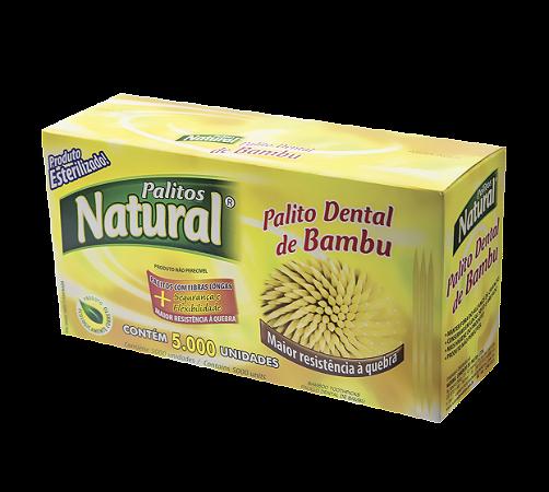 Palito De Dente Bambu Natural Cx 5000