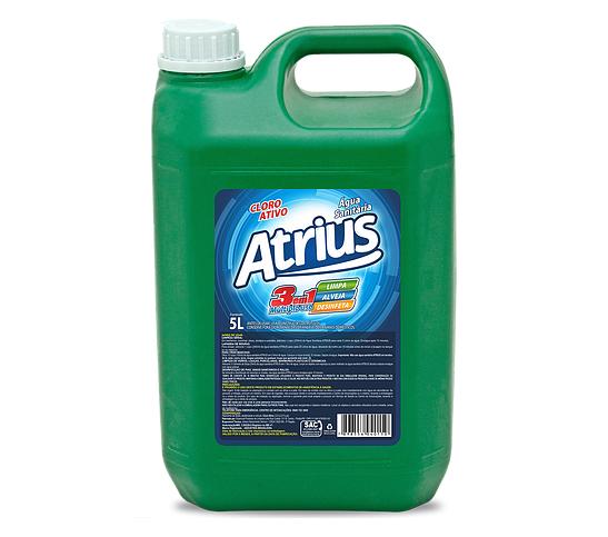 Água Sanitária Atrius Cloro Ativo 5l