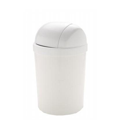 Lixeira Plástica 15l Branca Basculante