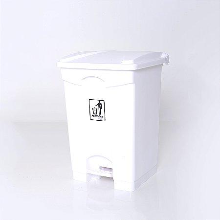 Lixeira Plástica 100l Branca com Pedal