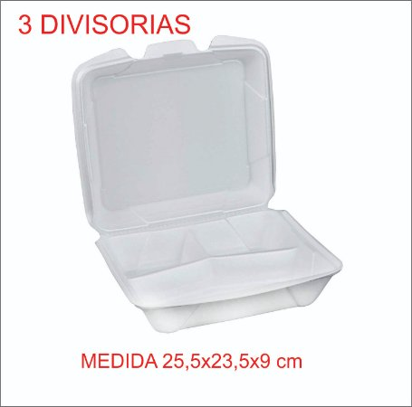 Isopor Bandeja Hf 132 3 Divisórias