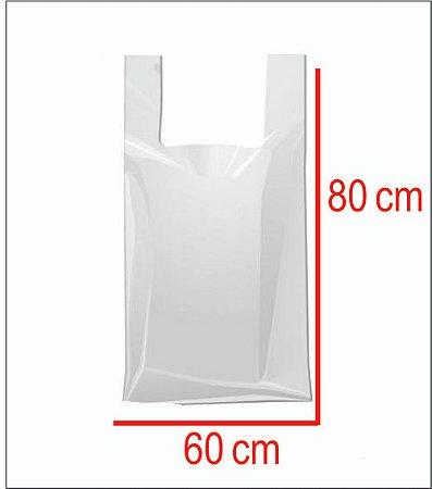Sacola Plástica 60X80 Reforçada Branca