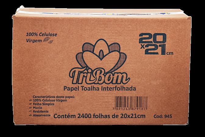 Papel Toalha Virgem 20x21 TriBom Intrefolhada