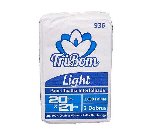 Papel Toalha Virgem 20x21 Light TriBom Interfolhada