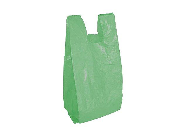 Sacola Plástica 30x40 Reciclada Verde Packlife