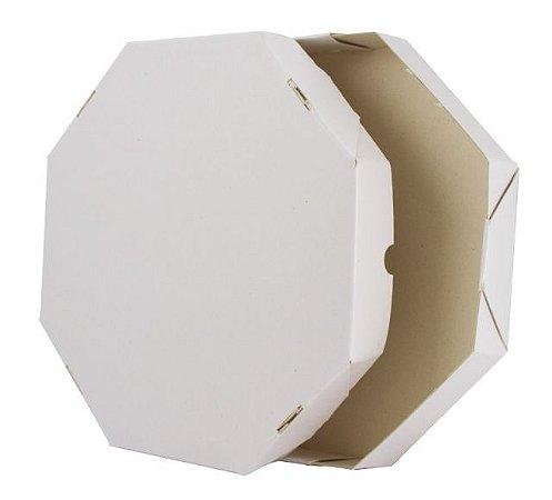 Caixa de Pizza Oitavada Branco Lisa - 50cm