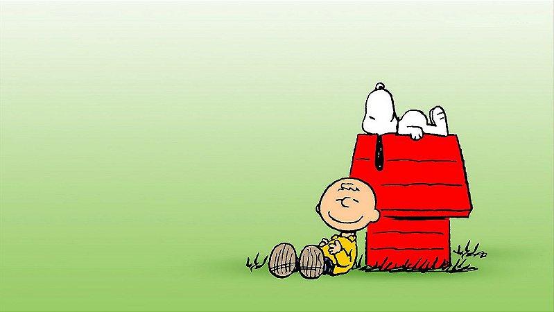 Painel de Festa Infantil Personalizado em Tecido Tema Snoopy 16