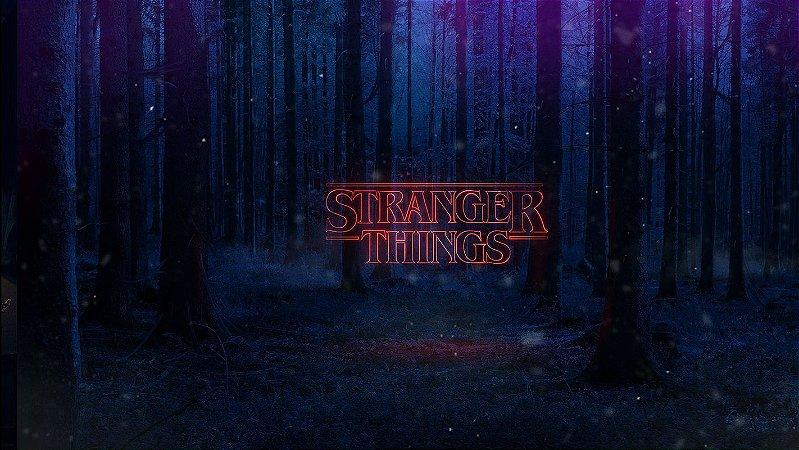 Painel de Festa Infantil Personalizado em Tecido Tema Stranger Things 4