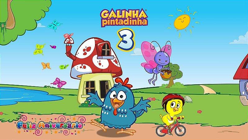 Painel de Festa Infantil Personalizado em Tecido Galinha Pintadinha 8