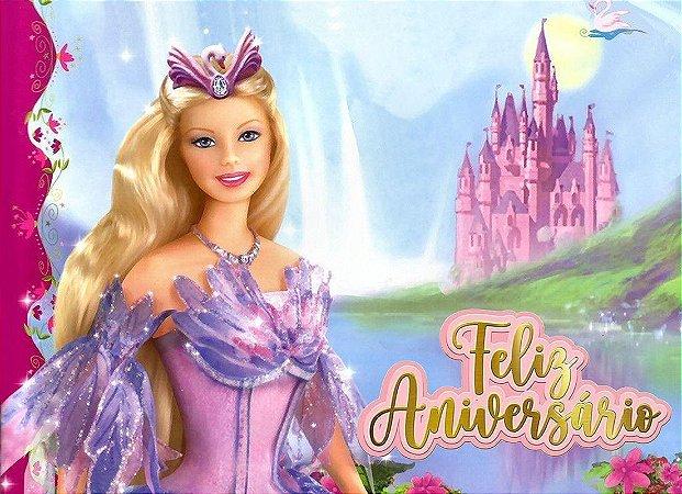 Painel de Festa Infantil Personalizado em Tecido Barbie 17
