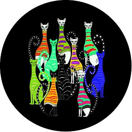 Capa Personalizada para Estepe Ecosport Crossfox Felinos Gatos