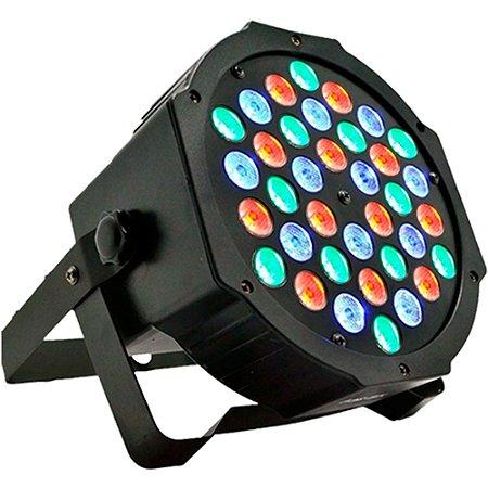 Canhão Iluminação Slim Par 64 36 Leds 1W RGB Bivolt