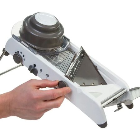 Mandoline Fatiador Profissional 18 Tipos de Corte Aço Inox