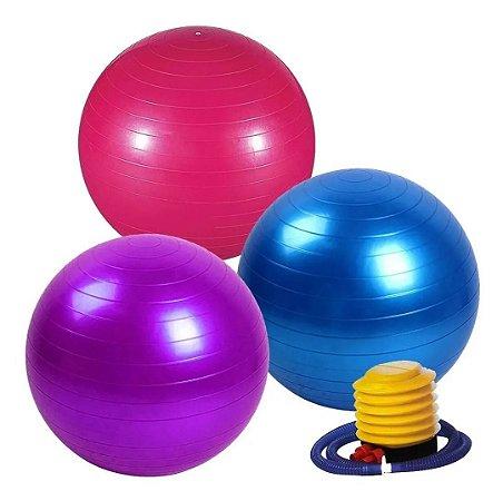 Bola para Exercícios Pilates 65cm Suporta até 150 Kg