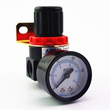 Regulador de Pressão para Compressor Com Manômetro 1/4 AR2000