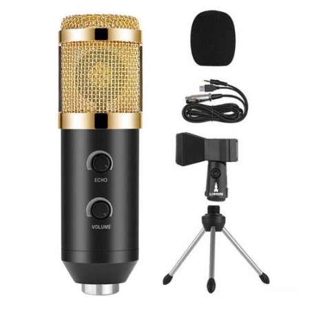 Microfone Condensador USB Estúdio Gravação BM100FX