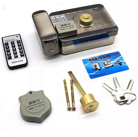Fechadura Eletrônica Inox Dupla Interna Cartão e Chaves