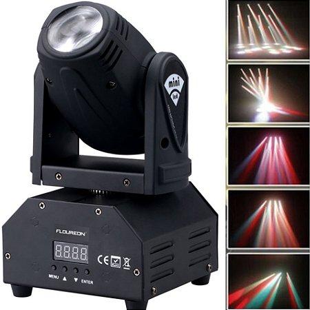 Mini Moving Head Beam 12W de Potência RGBW