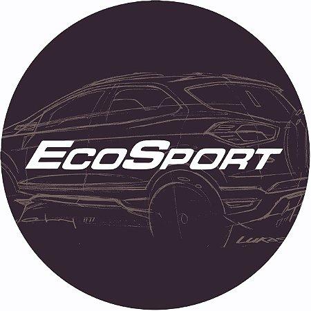 Capa Personalizada para EstepeEspecial Ecosport Estampa Logomarca Ecosport