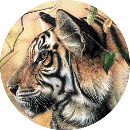 Capa para estepe Ecosport Crossfox + Cabo + Cadeado Tigre de Bengala