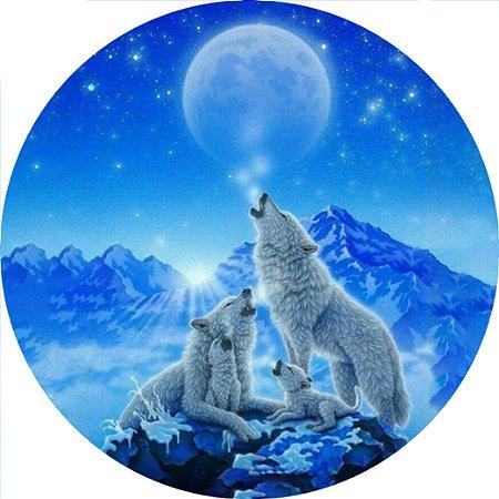 Capa para estepe Ecosport Crossfox + Cabo + Cadeado Lobo Branco
